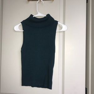 Kendall & Kylie Turtleneck Sleeveless Teal Green